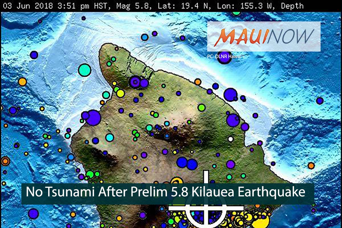 No Tsunami After 5.5 Earthquake at Kīlauea Summit