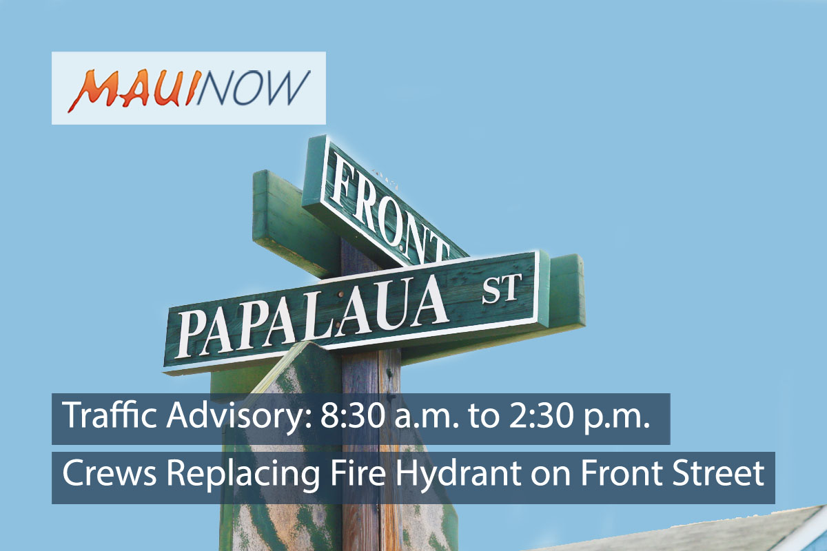 Traffic Advisory: Crews Replacing Fire Hydrant on Front Street Today