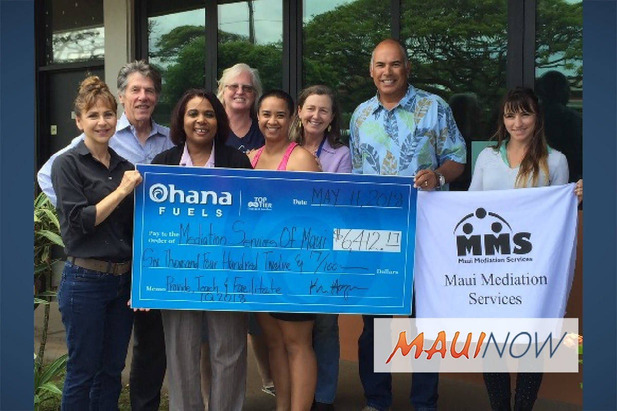Maui Mediation Services Benefits from Ohana Fuels Donation