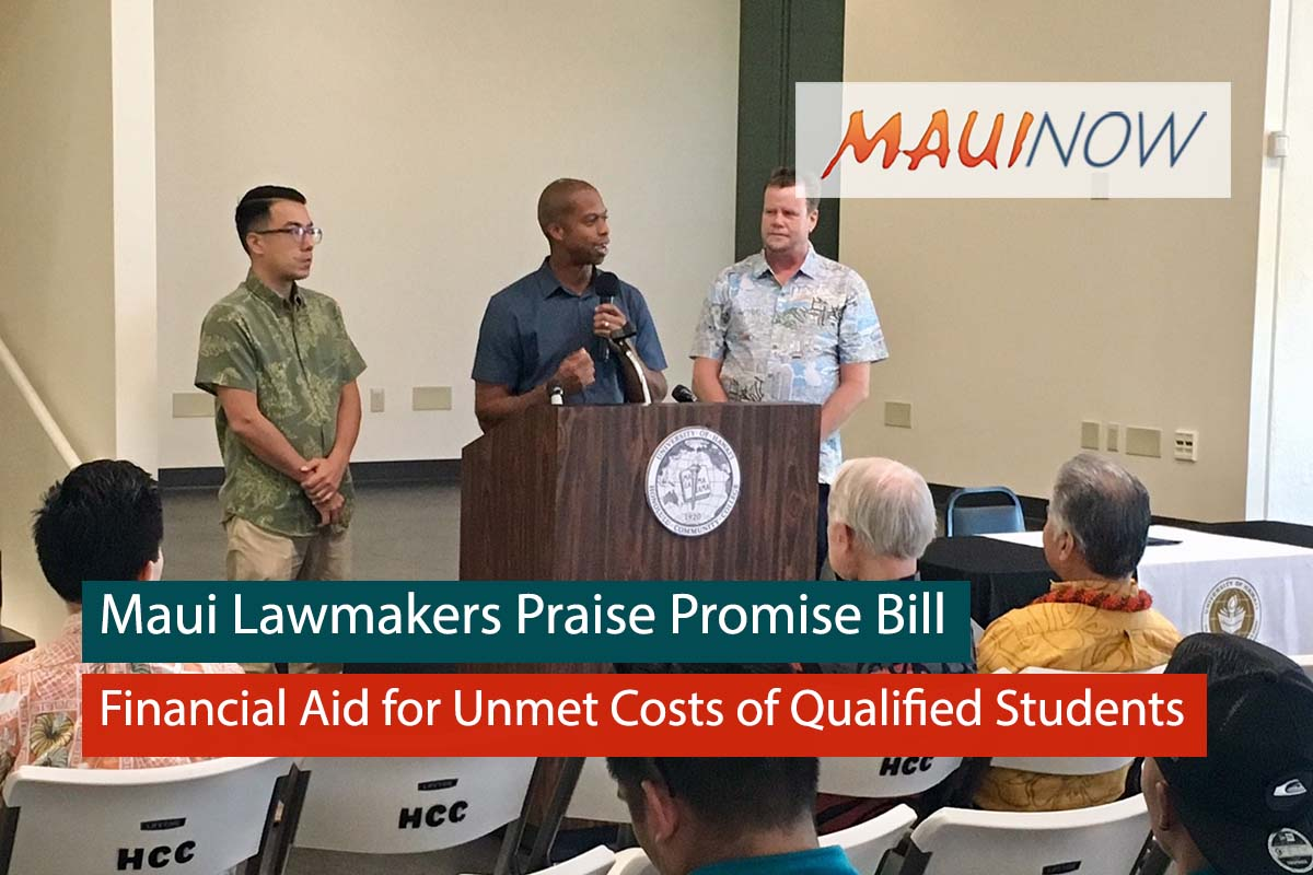 Maui Lawmakers Praise Promise Bill for Higher Education