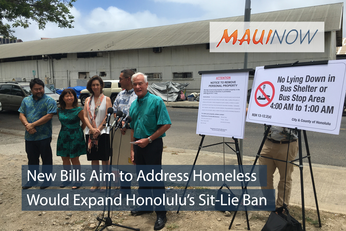 New Bills Aim to Address Homeless on Sidewalks