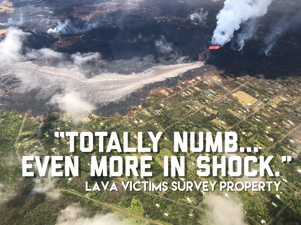 """Totally Numb, Even More in Shock"" - Lava Victims Survey Their Property"