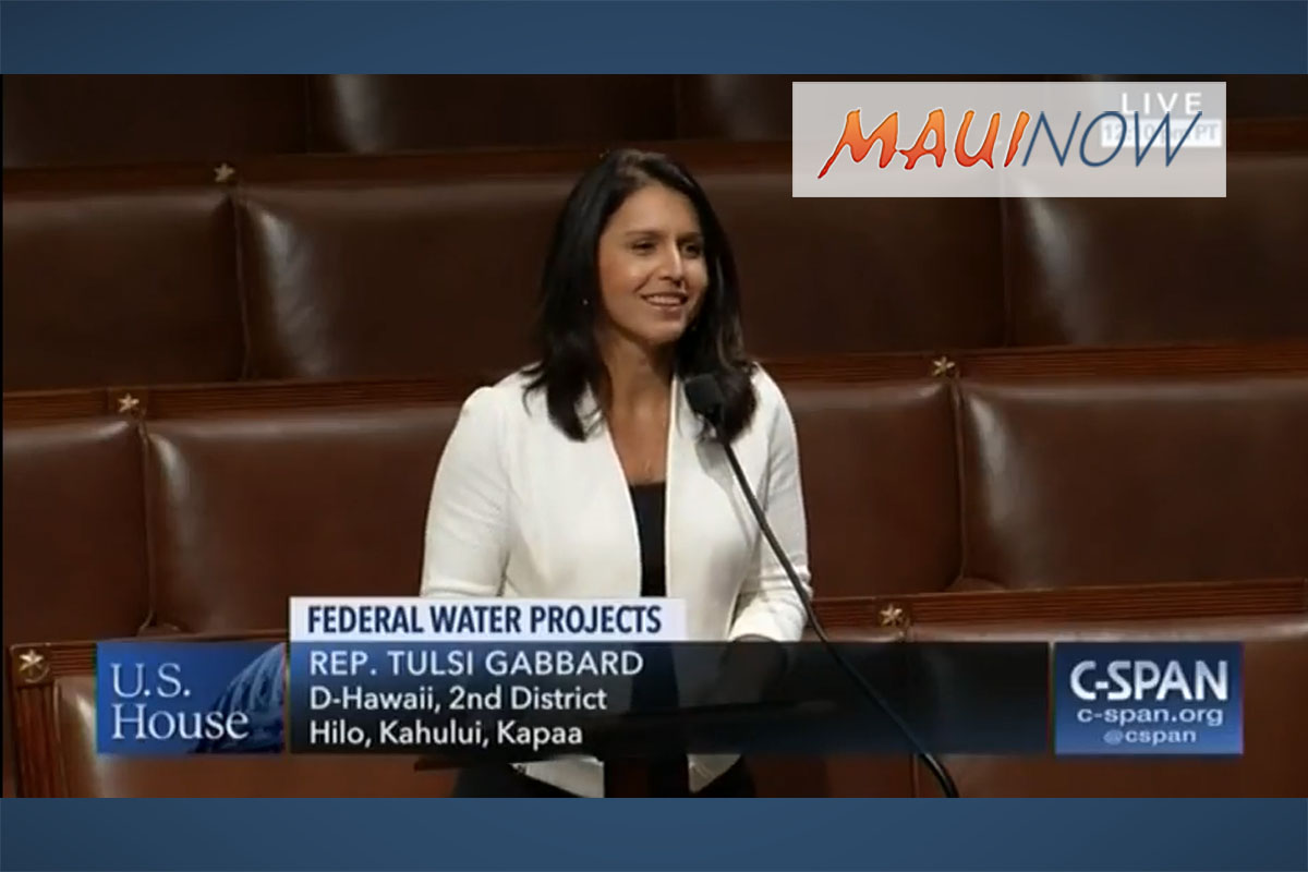 Rep. Gabbard Backs Legislation that Funds Hawai'i's Water Infrastructure