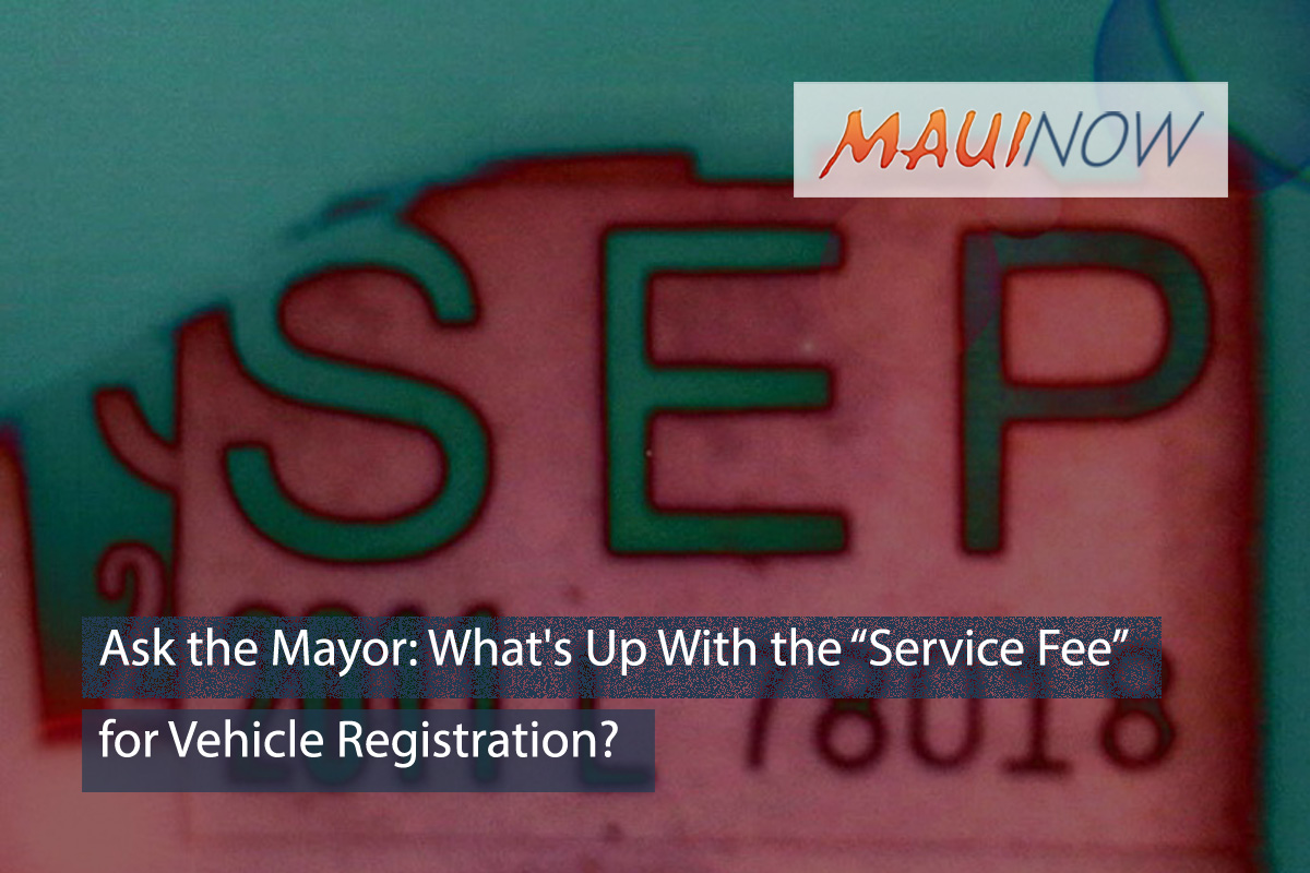 Ask the Mayor: What's Up With the Service Fee for Vehicle Registration?