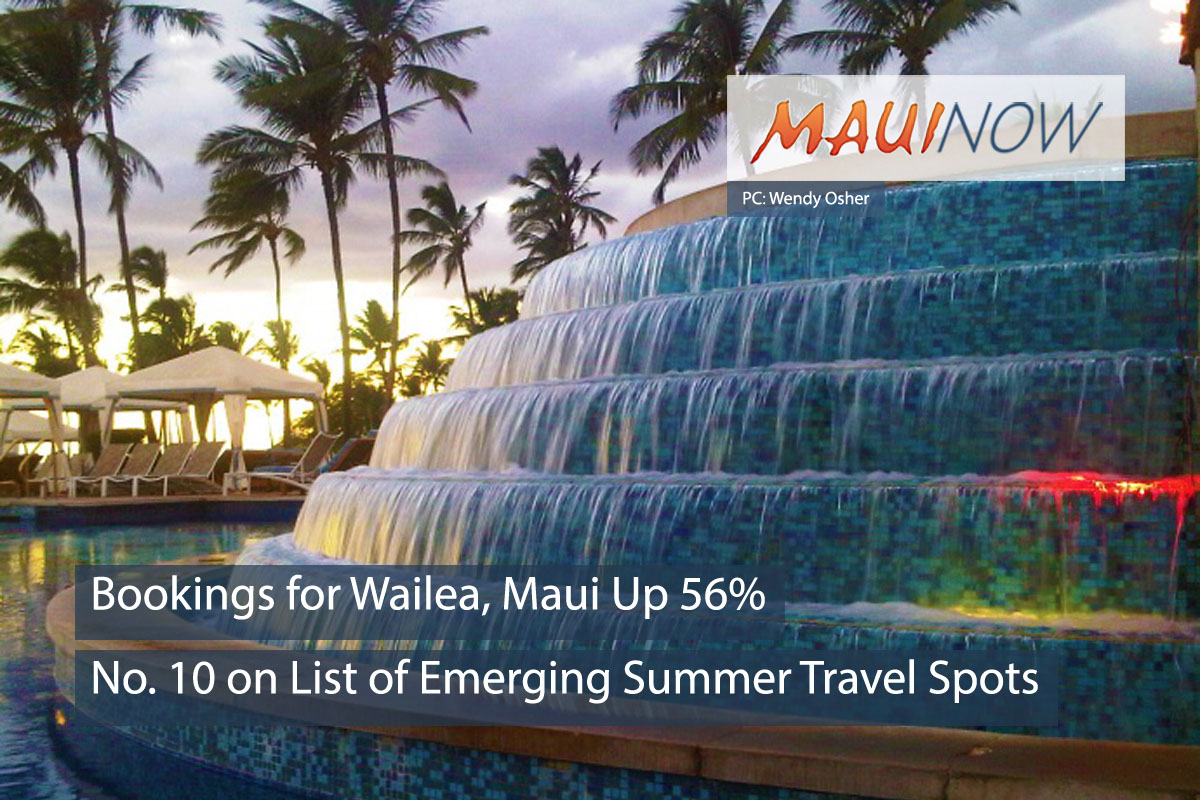Wailea, Maui is a Top Emerging Summer Travel Destination