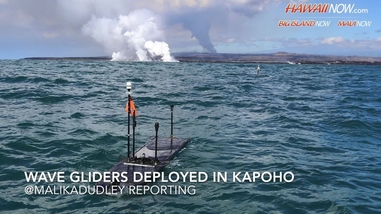 Ocean Robots Collect Data From Kīlauea Flow