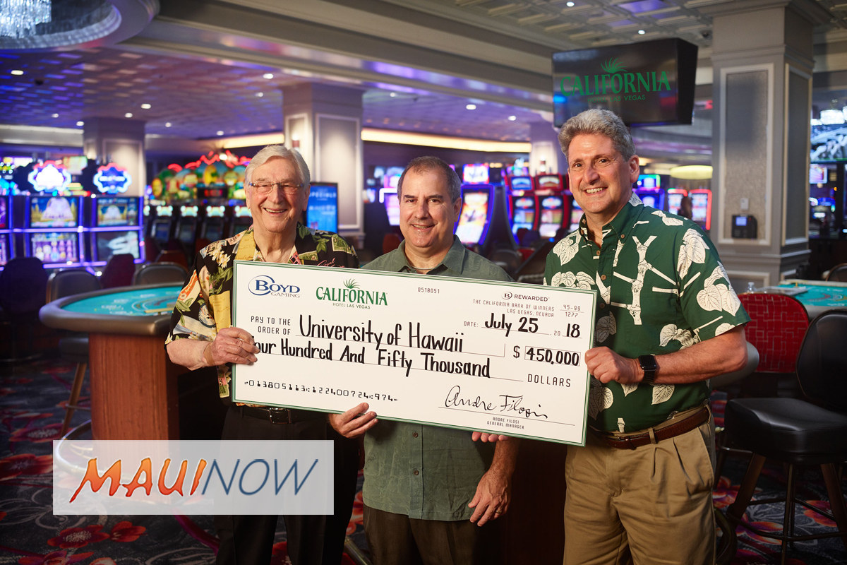 California Hotel $450,000 Pledge to University of Hawai'i Athletics