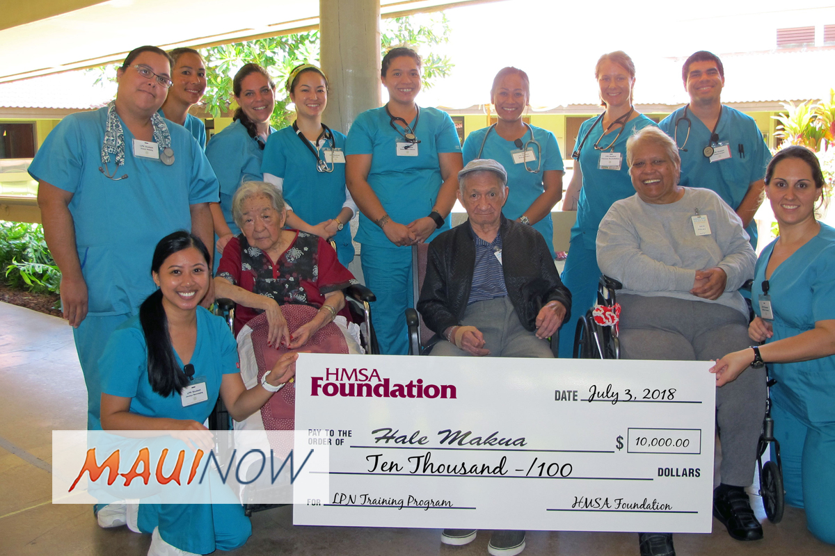 Hale Makua Receives $10K Grant to Train Licensed Practical Nurses