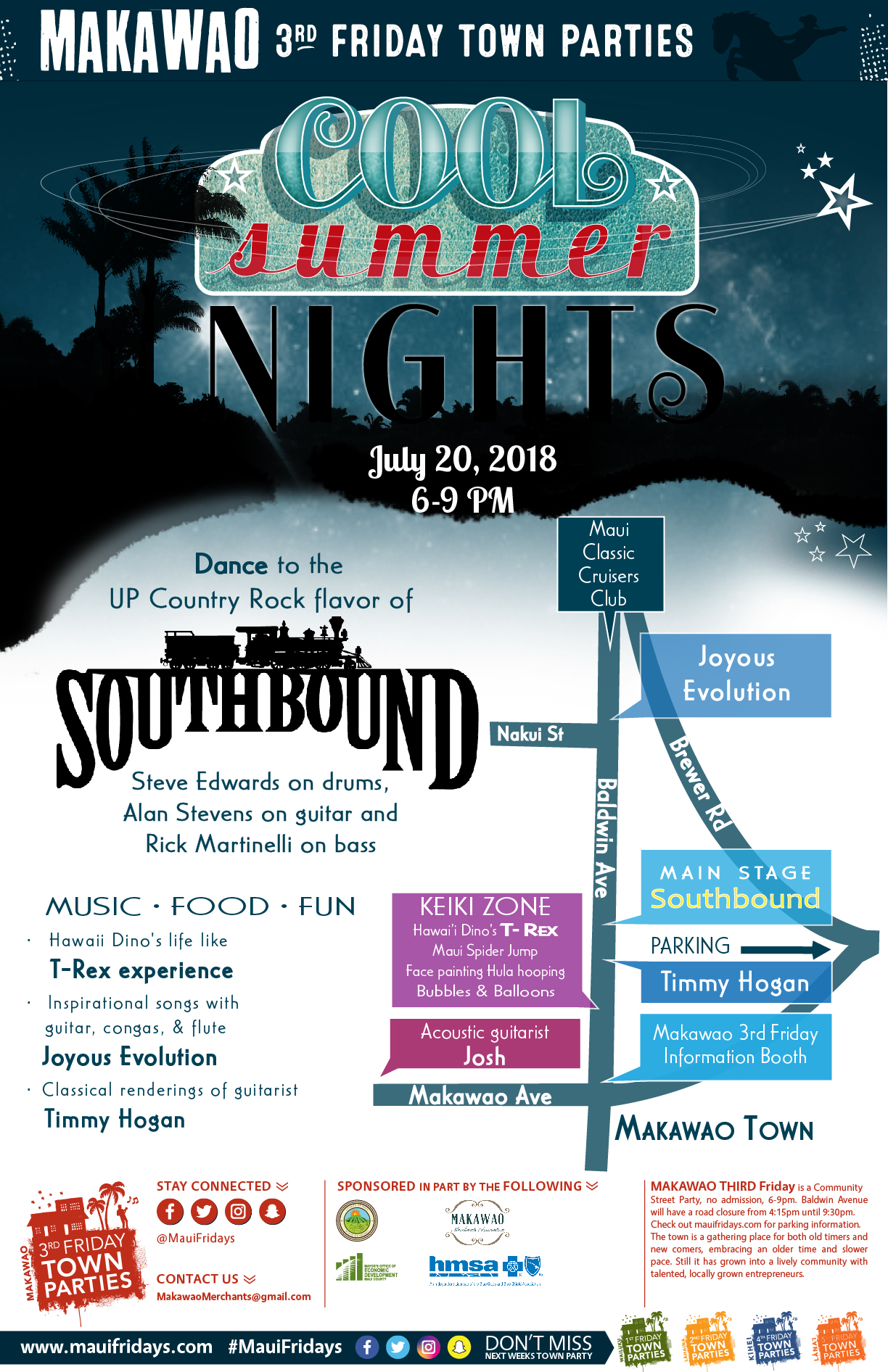 Makawao Third Friday Presents Cool Summer Nights