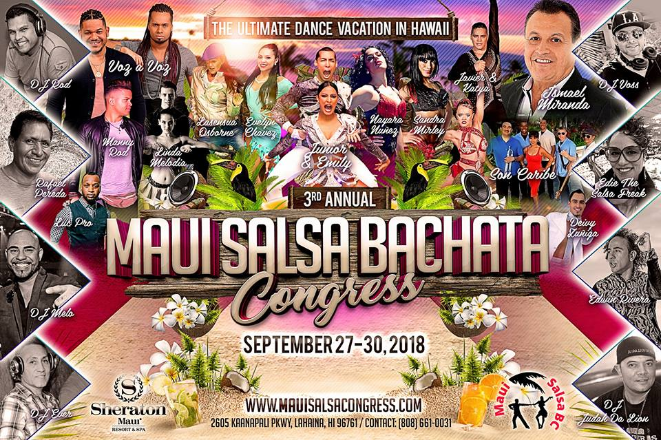 Top Dancers to Compete in 3rd Annual Maui Salsa Bachata Congress