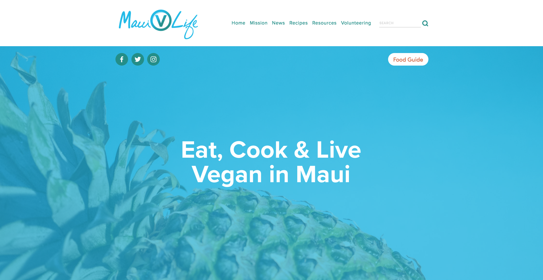 New Website Showcases Maui's Growing Vegan Community
