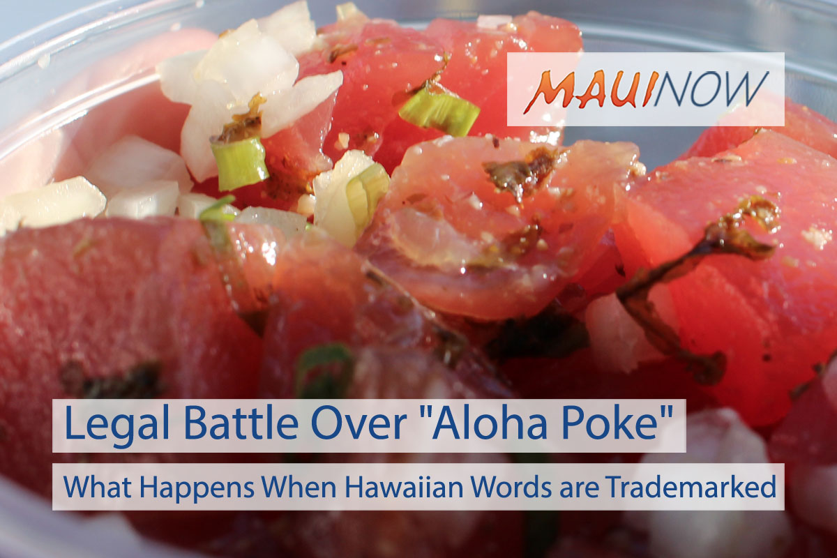 "Legal Battle Over ""Aloha Poke"" Name"