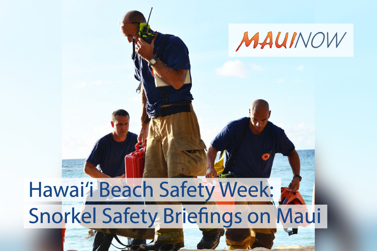 Hawai'i Beach Safety Week: Snorkel Safety Briefings on Maui