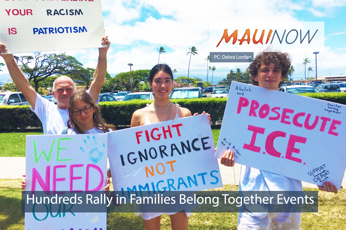 Hundreds Rally in 'Families Belong Together' Hawai'i Events