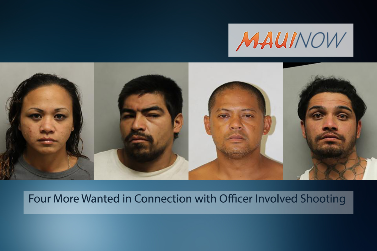 Four More Wanted in Connection with Officer Involved Shooting