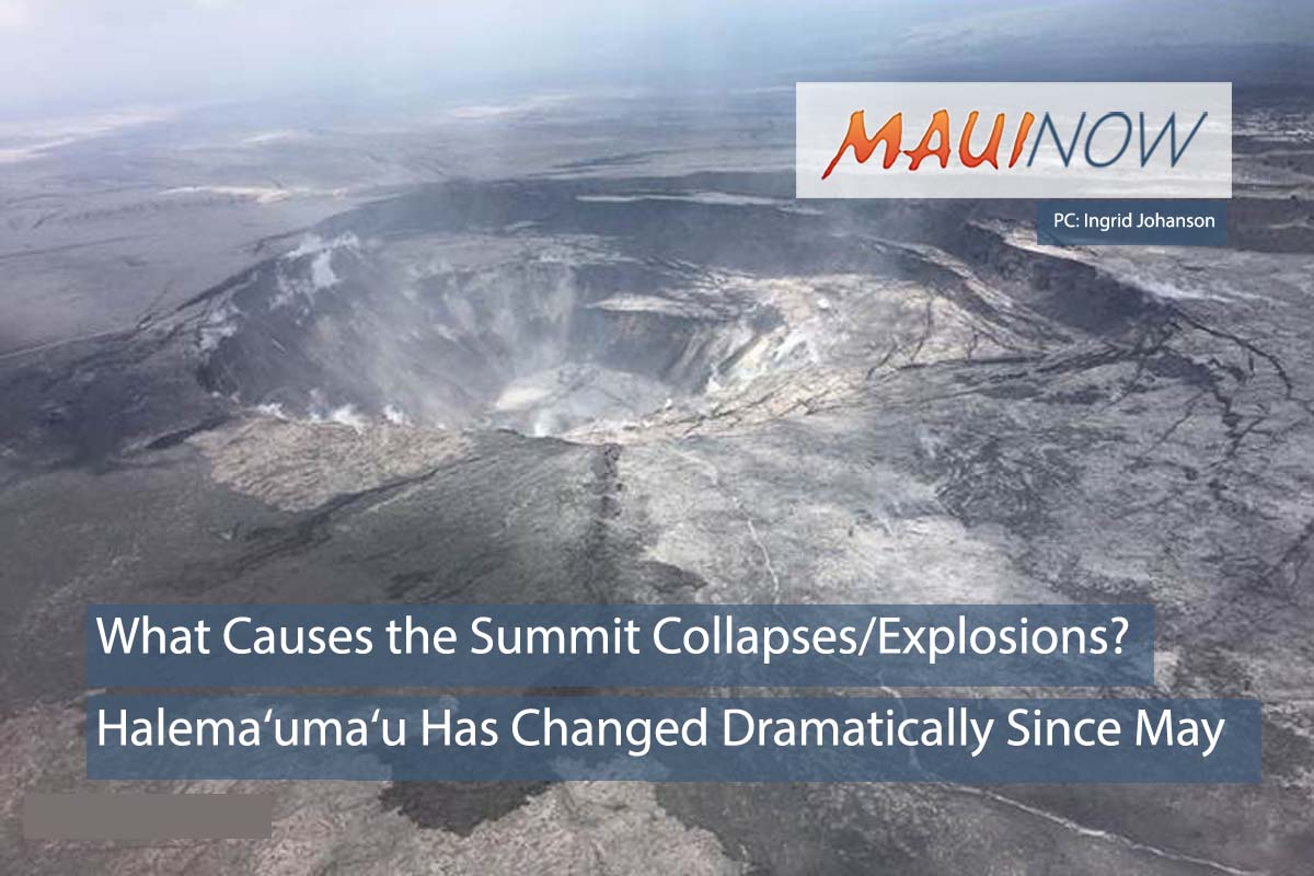 What Causes the Collapses/Explosions at the Kīlauea Summit?
