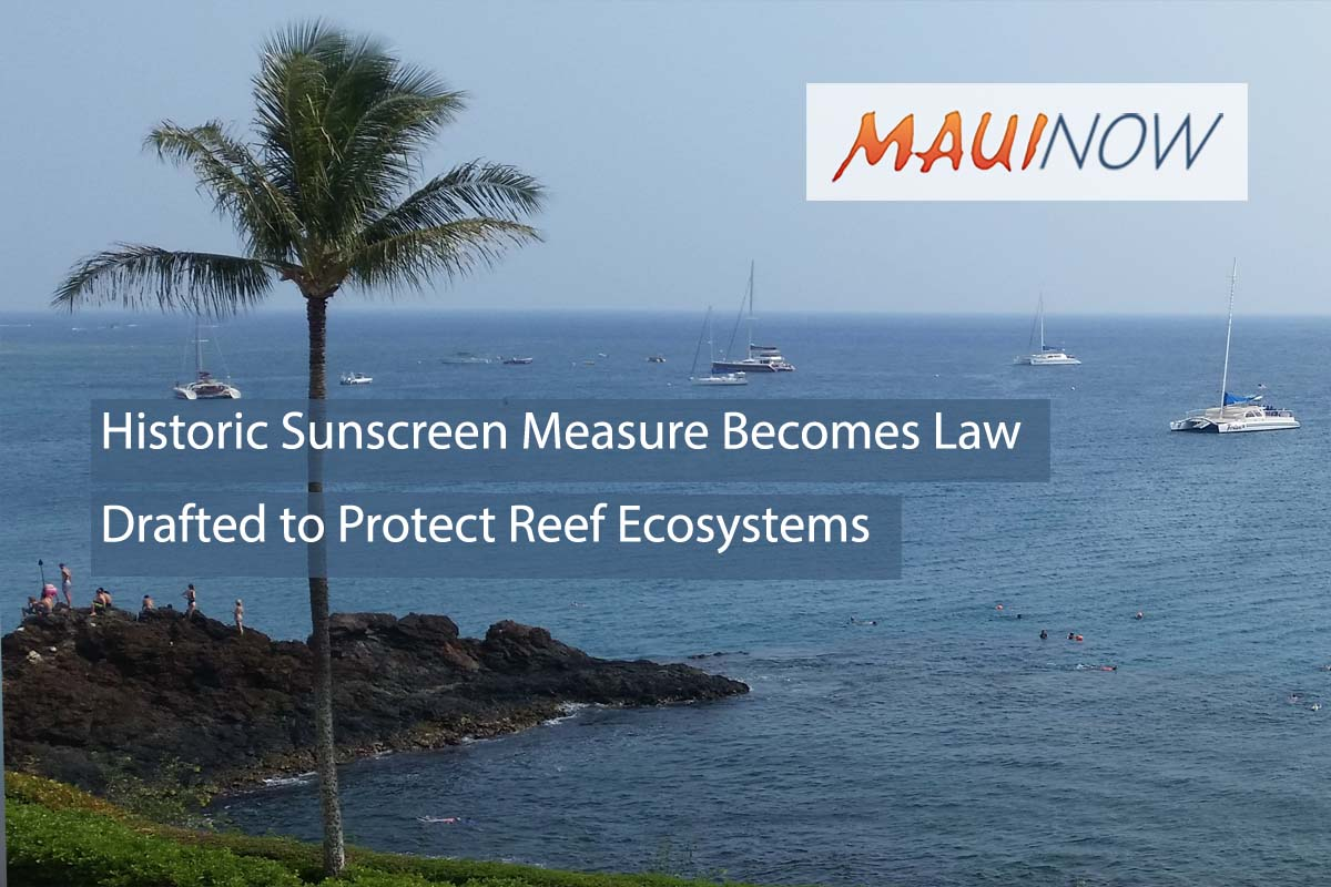 Historic Sunscreen Ingredient Ban to Protect Hawai'i's Reefs Becomes Law