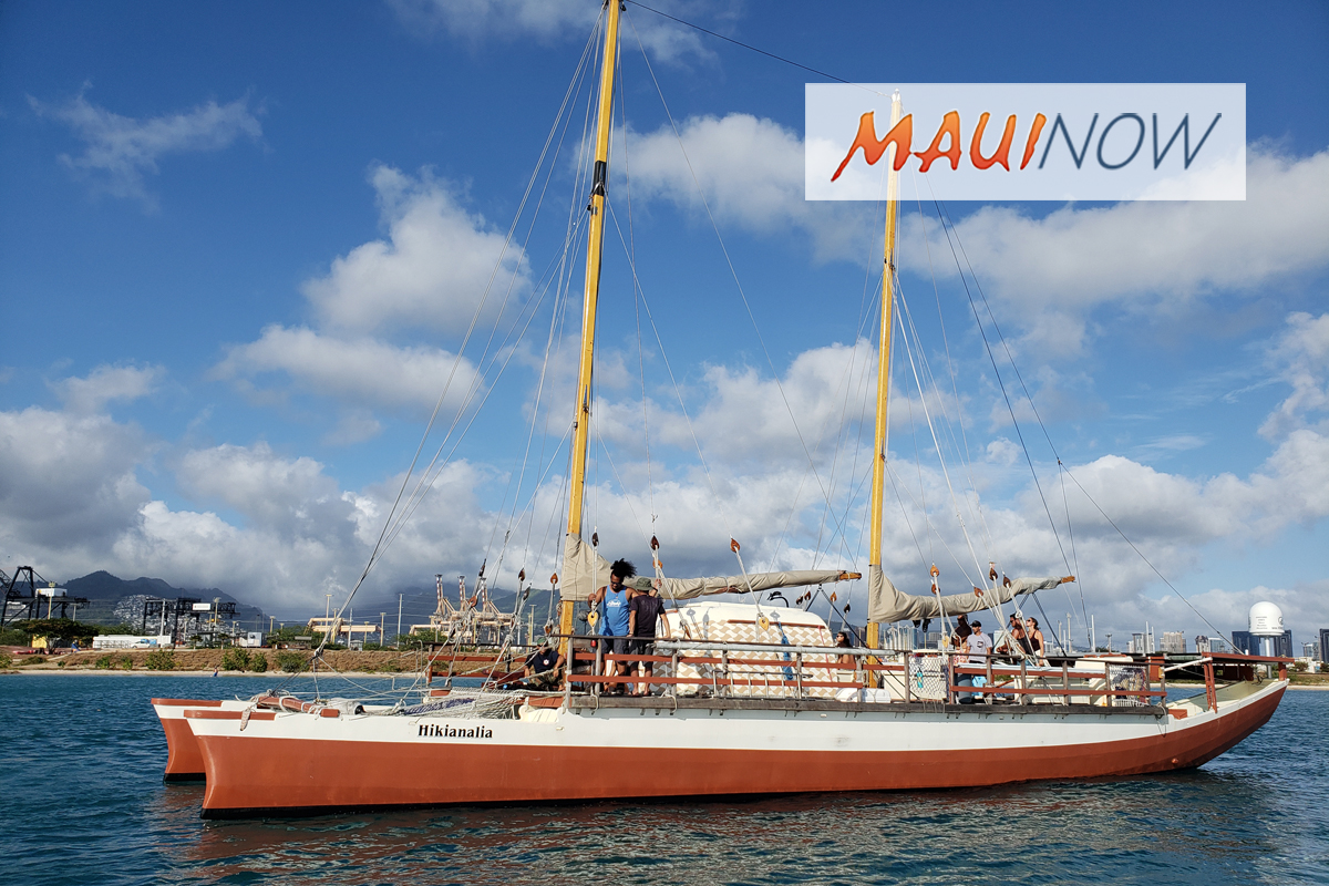 Hikianalia Departure Delayed as Crew Monitors Lane