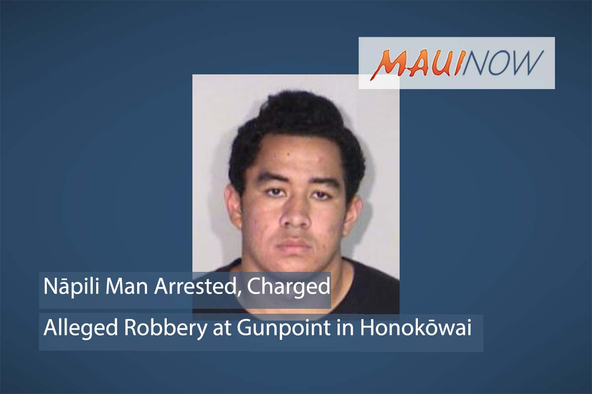 Nāpili Man Arrested for Alleged Robbery at Gunpoint