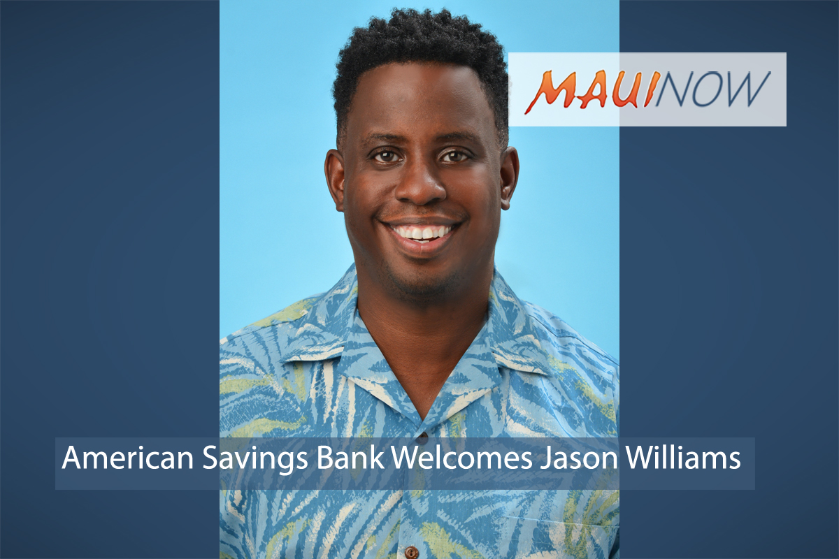 American Savings Bank Welcomes Jason Williams