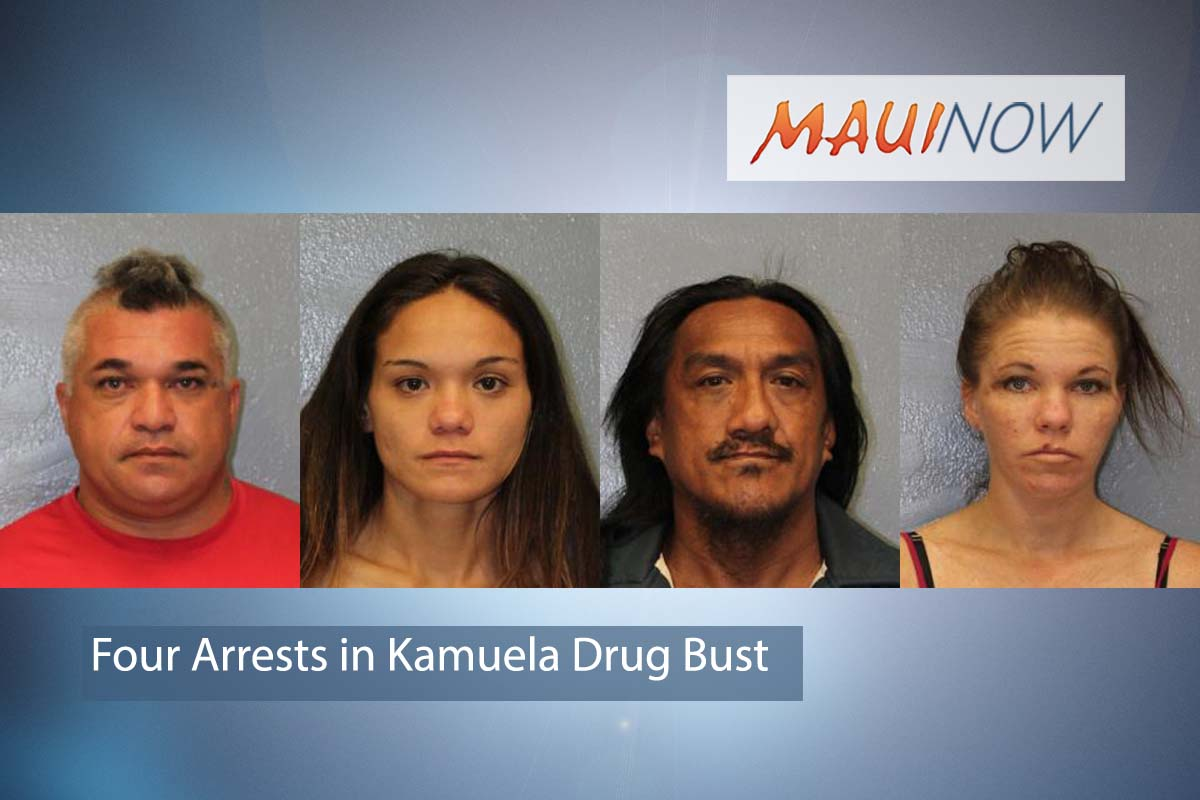 Four Arrests in Kamuela Drug Bust