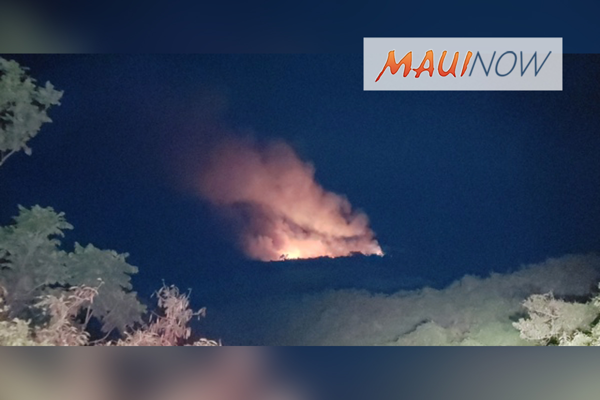 Crews Battle Evening Fire in Upper Kanaio