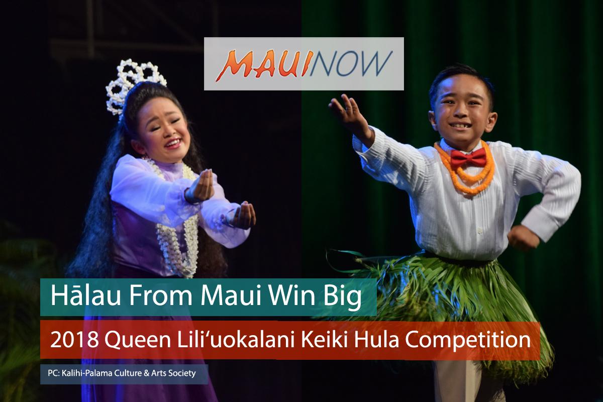 Hālau From Maui Win Big at 2018 Queen Lili'uokalani Keiki Hula Competition
