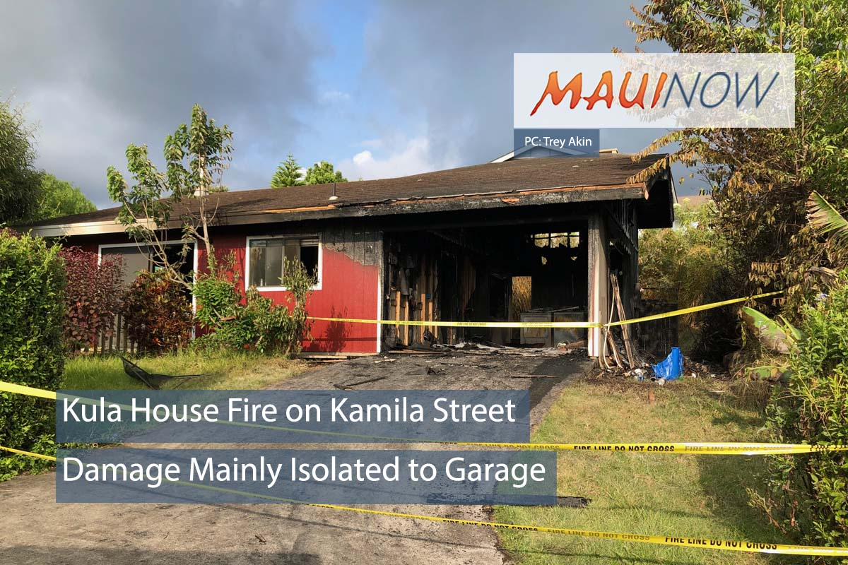 Maui Firefighters Respond to Kula House Fire on Kamila Street