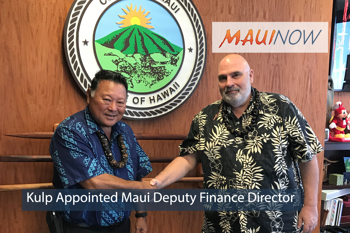 Kulp Appointed Maui Deputy Finance Director