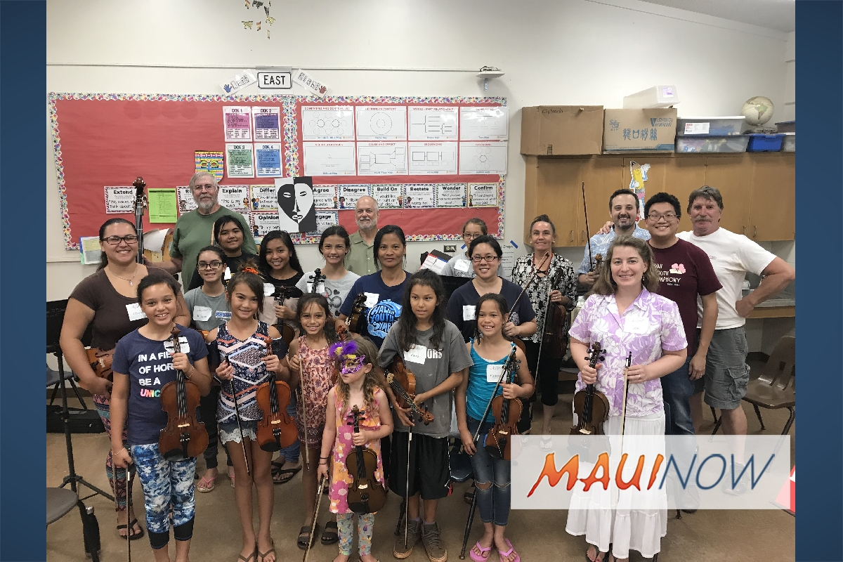 Molokai Students Offered Hands On Training with Hawai'i Youth Symphony