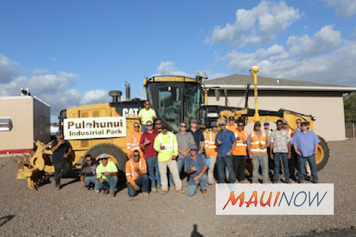 Pulehunui Industrial Park Construction is Complete