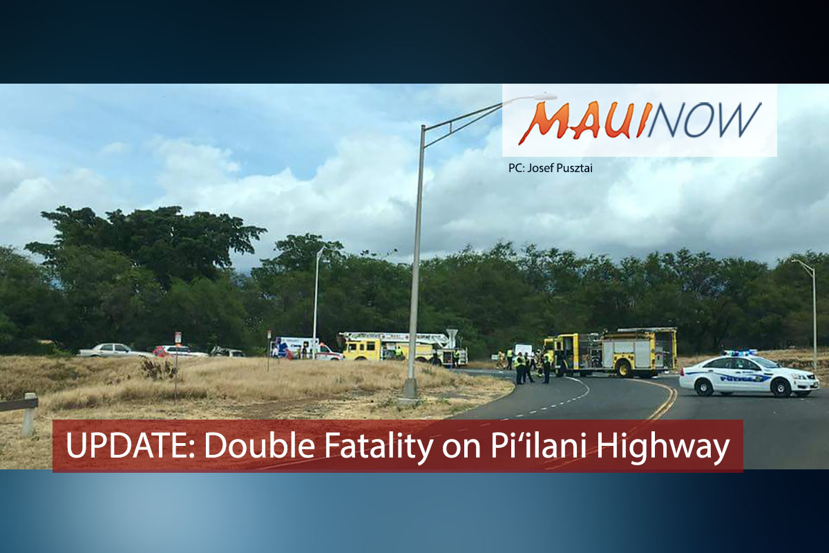 UPDATE: Double Fatality on Pi'ilani Highway