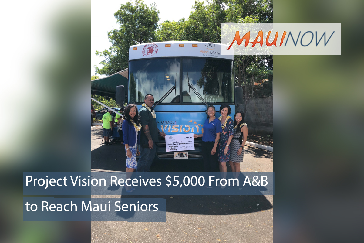 Project Vision Receives $5,000 to Reach Maui Seniors