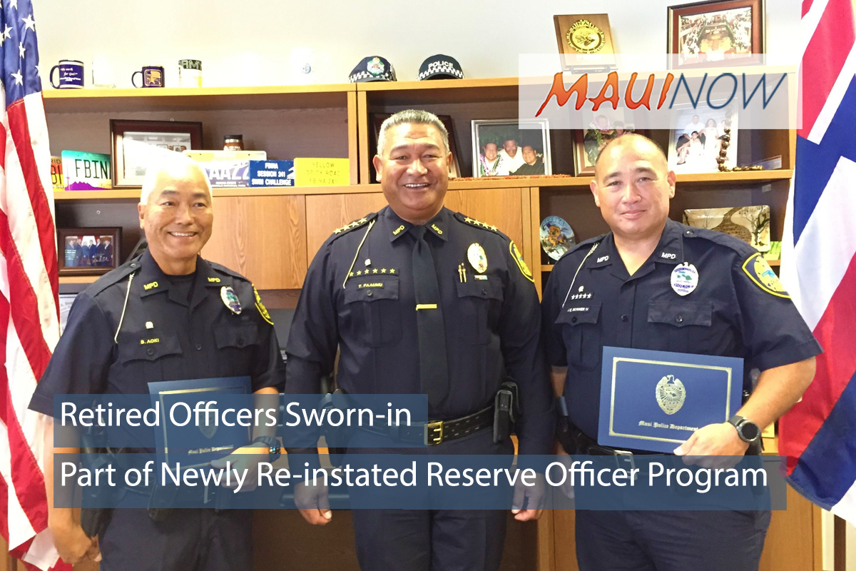 Newly Re-Instated Reserve Officer Program Returns to Maui