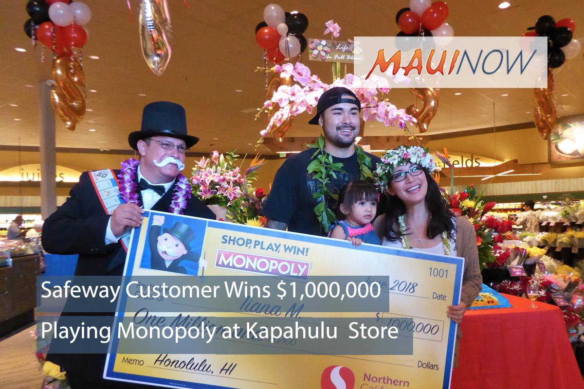 Hawaiʻi Safeway Customer Wins $1,000,000 Playing Monopoly