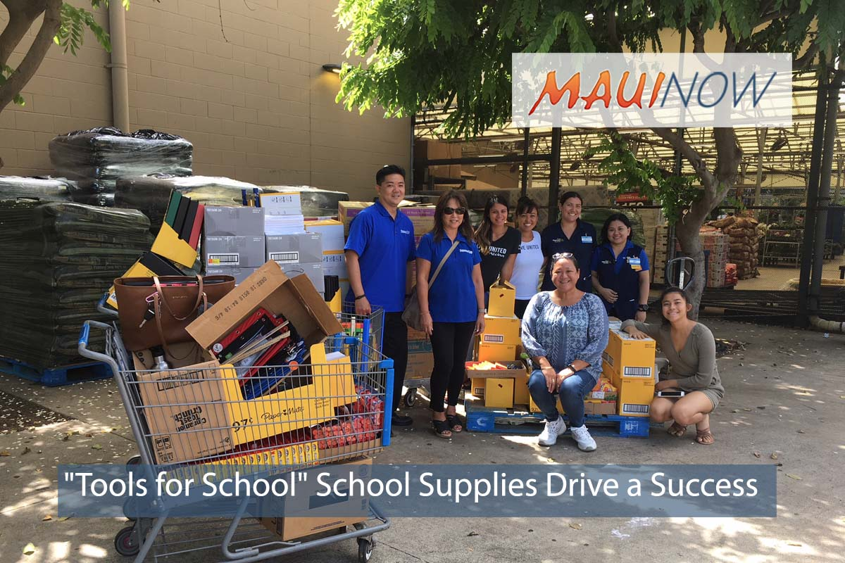 "Maui ""Tools for School"" School Supplies Drive a Success"