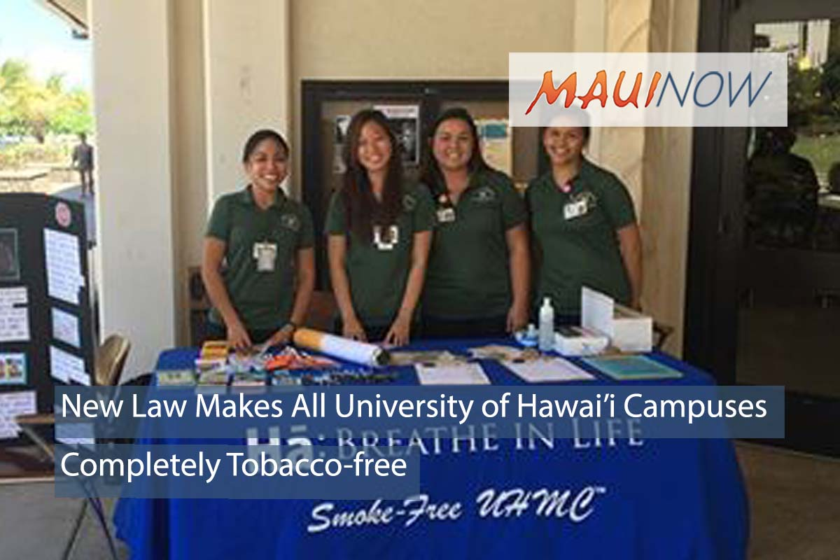 New Law Makes All 10 University of Hawai'i Campuses Tobacco-Free
