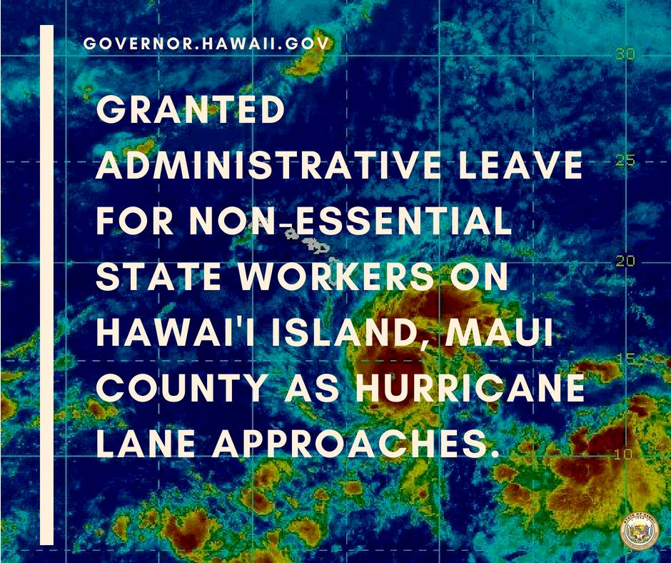 Governor Grants Administrative Leave for Non-Essential State Workers on Maui