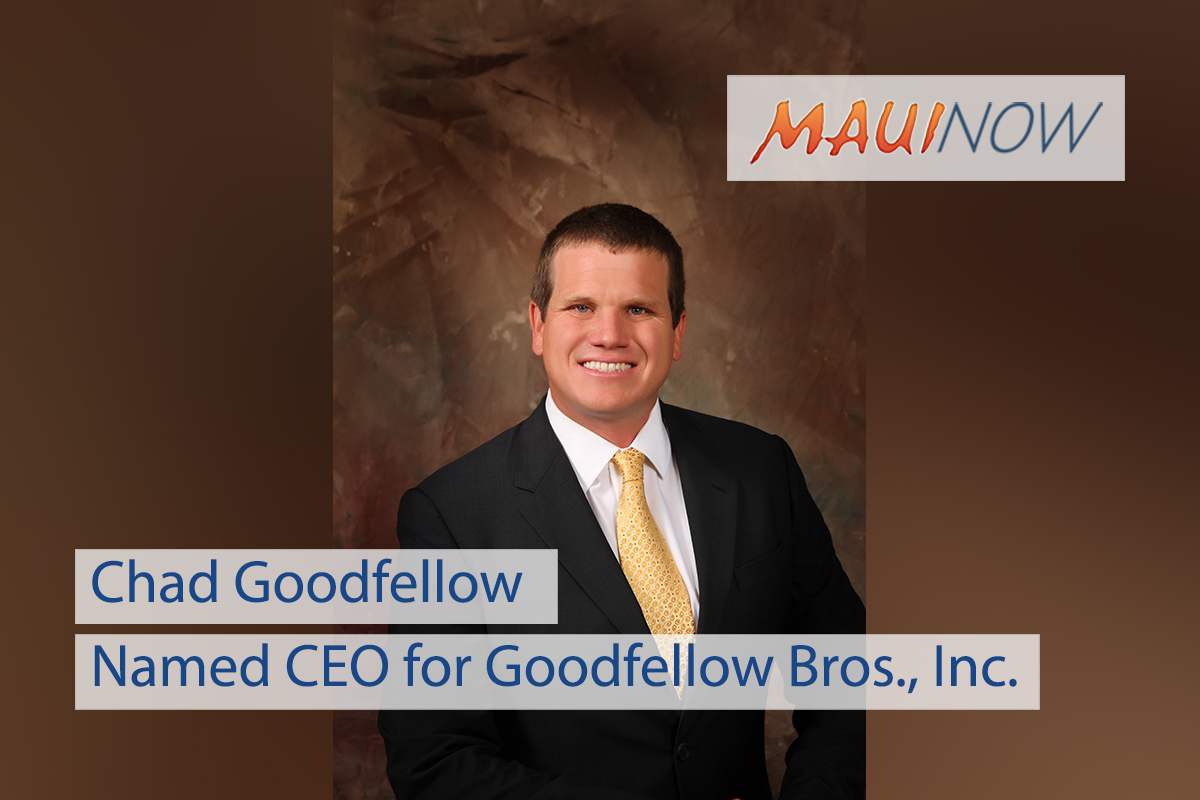 Chad Goodfellow Named CEO for Goodfellow Bros., Inc.