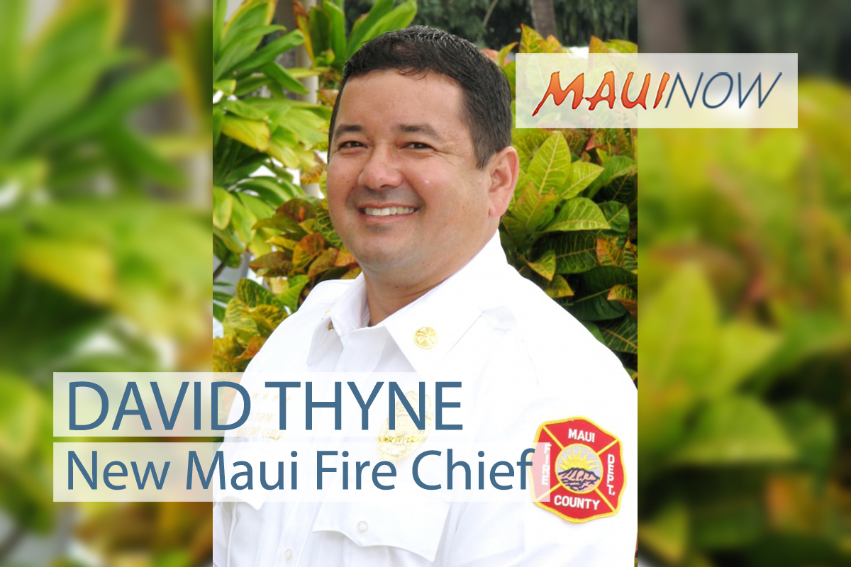 Thyne Named New Maui Fire Chief