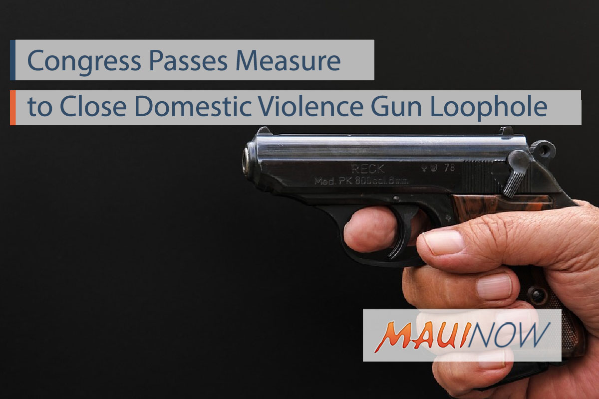 Congress Passes Measure to Close Domestic Violence Gun Loophole