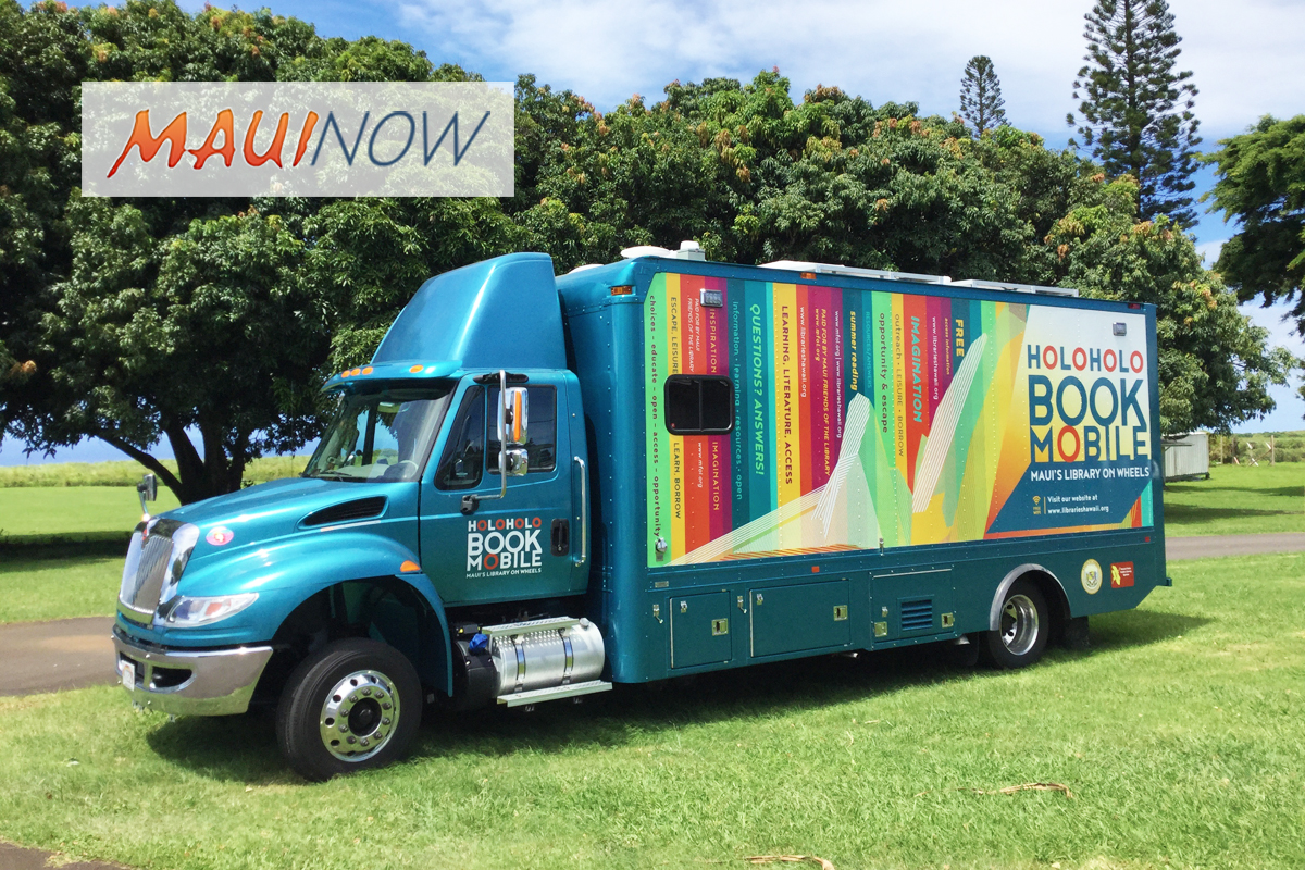 Maui Holoholo Bookmobile Spring & Summer Route Schedule