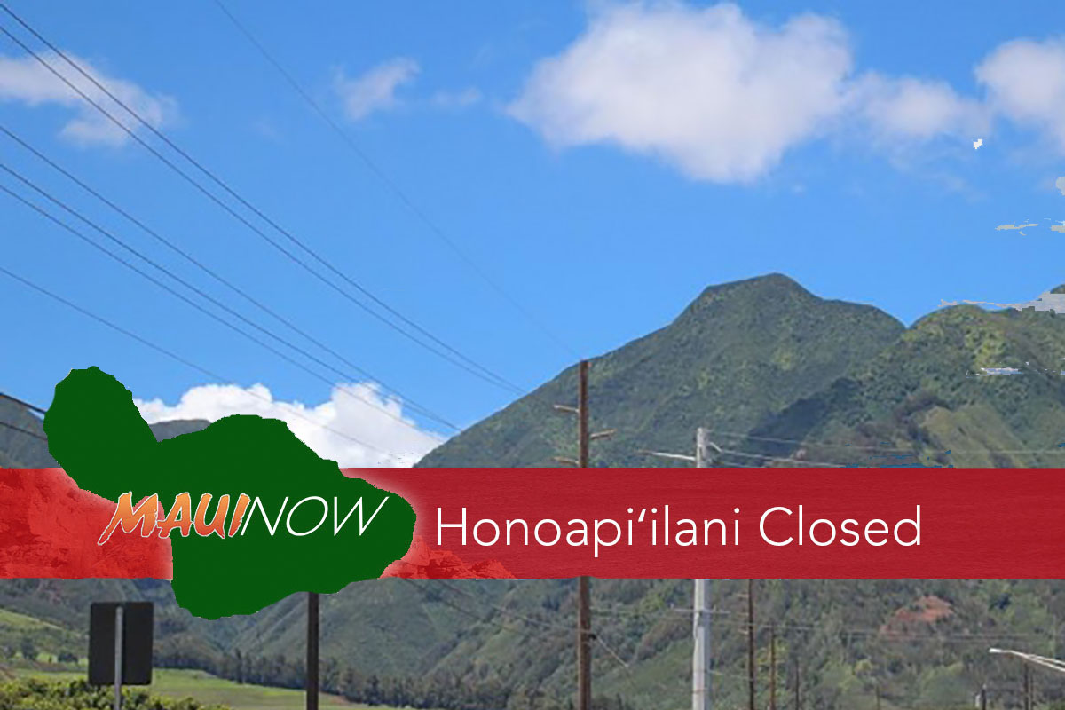 UPDATE: Road Now OPEN Honoapi'ilani Hwy: Kūihelani to Waikapū
