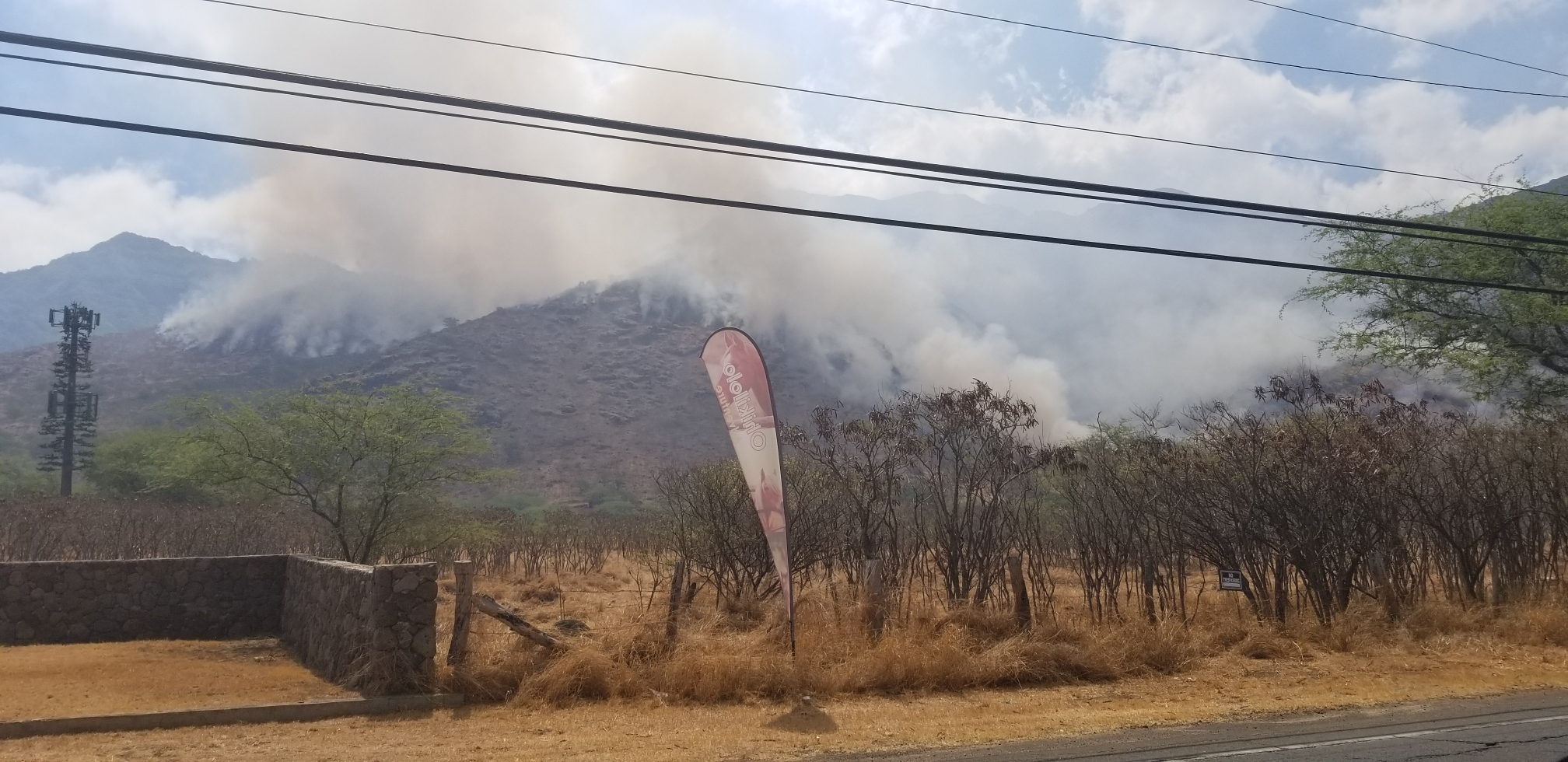 Two Fires Burning in Separate West O'ahu Forest Reserves