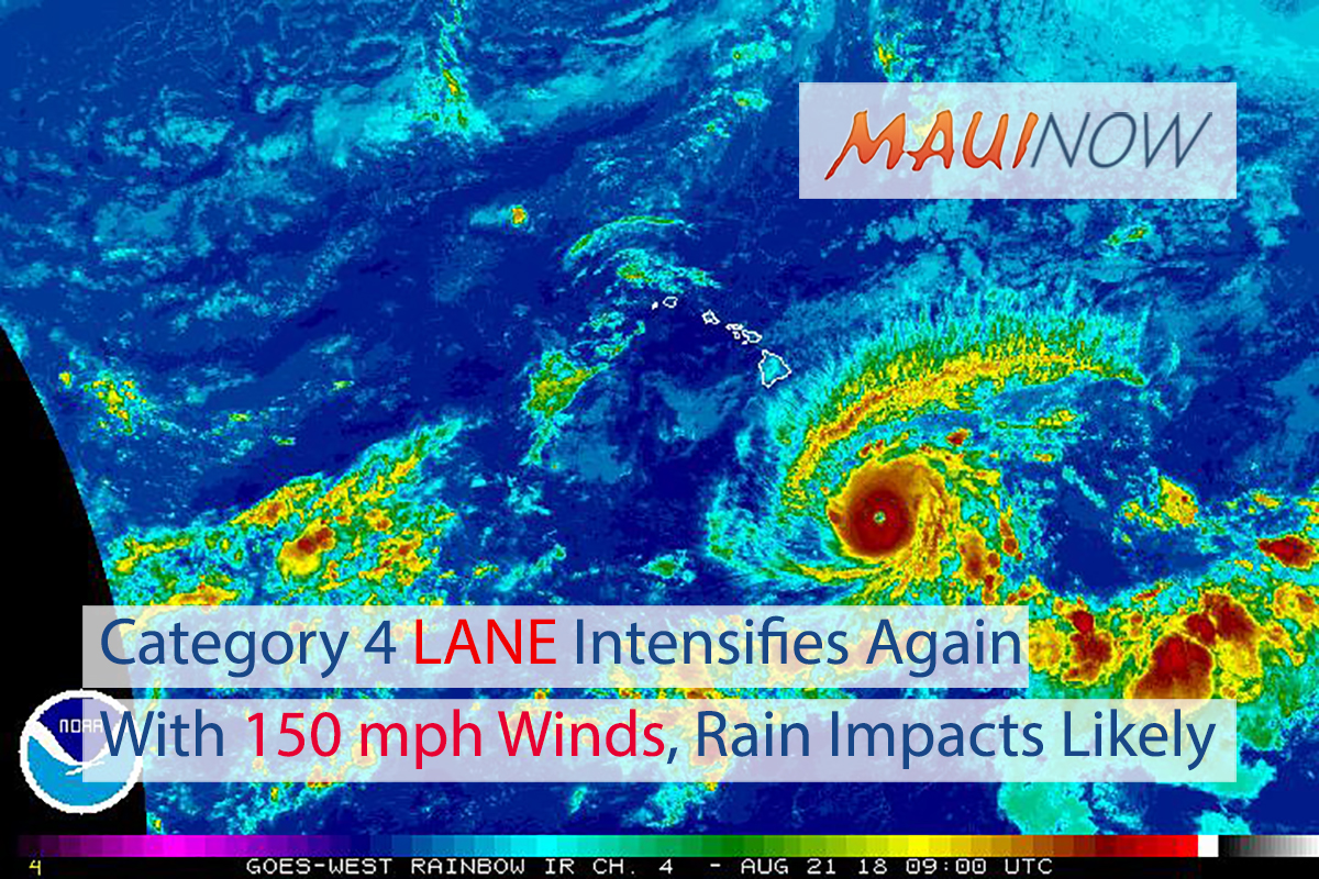 Category 4 Lane Intensifies Again With 150 mph Winds, Rain Impacts Likely