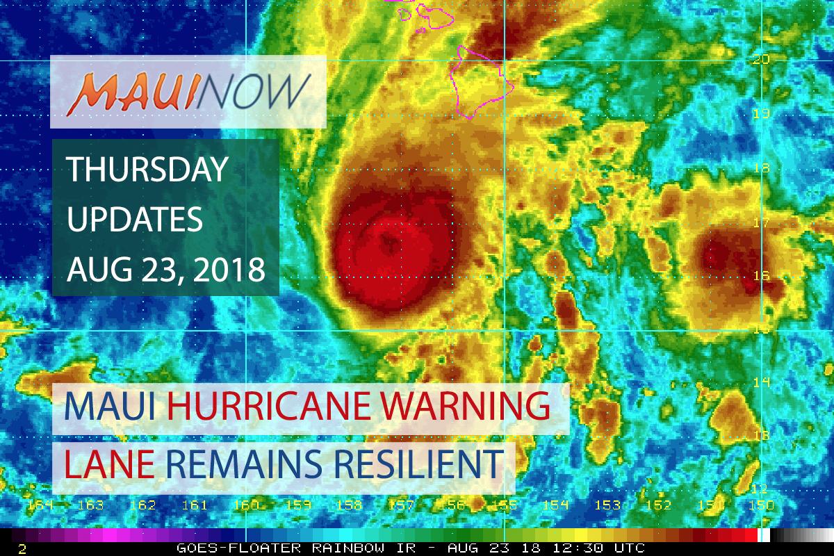 Hurricane Lane Remains Resilient: Thursday Updates