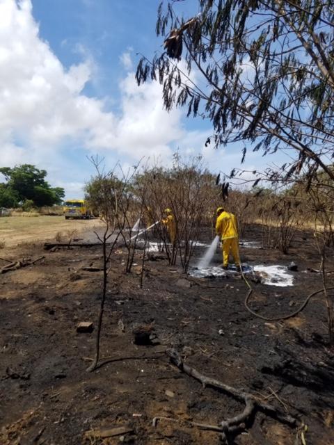 Maui Lani Brush Fire Burns ½ Acre