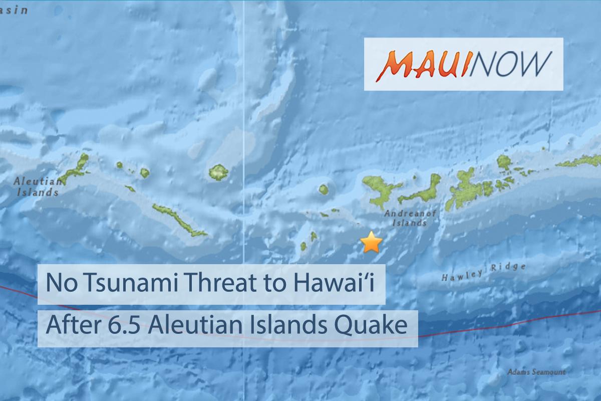 No Tsunami Threat to Hawai'i After 6.5 Aleutian Islands Quake