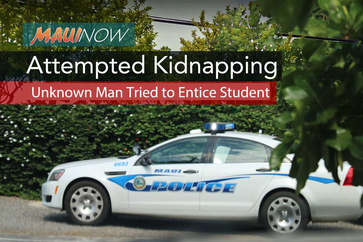 Maui Police Investigate Attempted Kidnapping at Area School