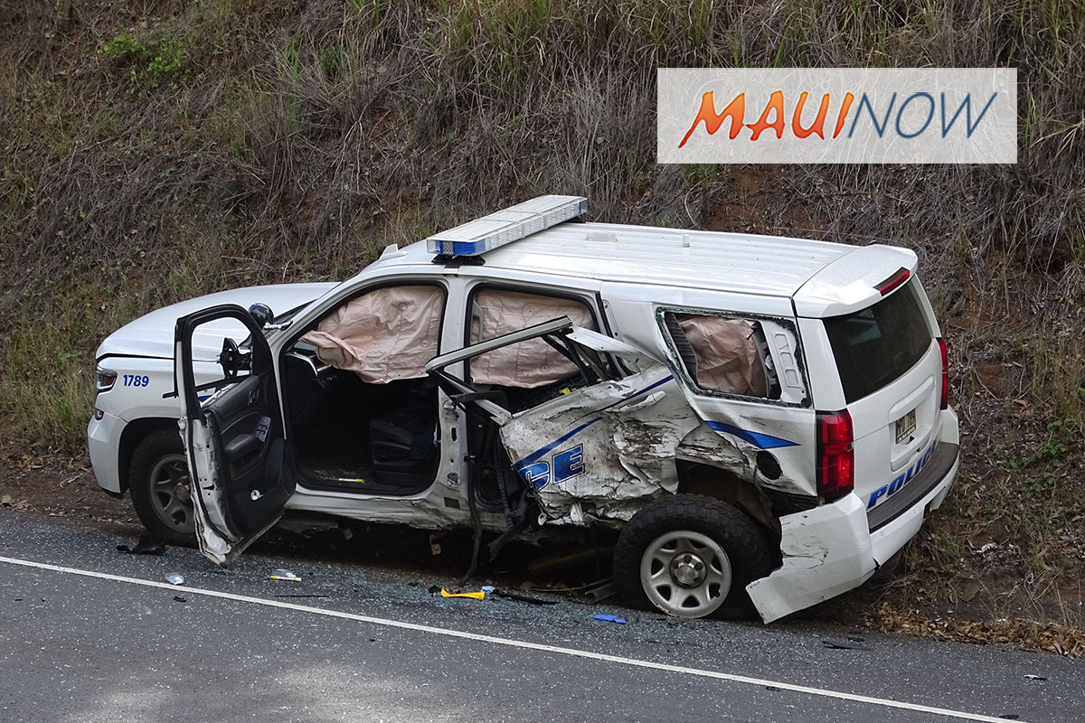 Arrest Made: Kula Highway Accident Involving Police Vehicle